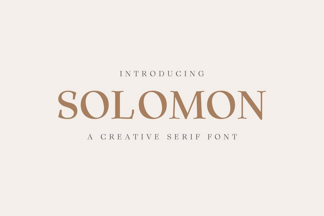 Solomon - Creative Serif Font Family