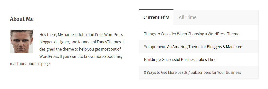 Solopreneur Review Widgets