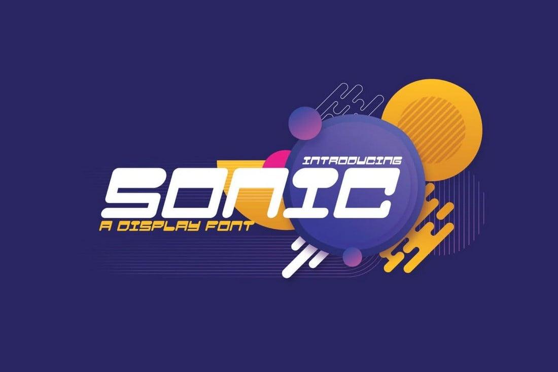 Sonic - Unique T-Shirt Font