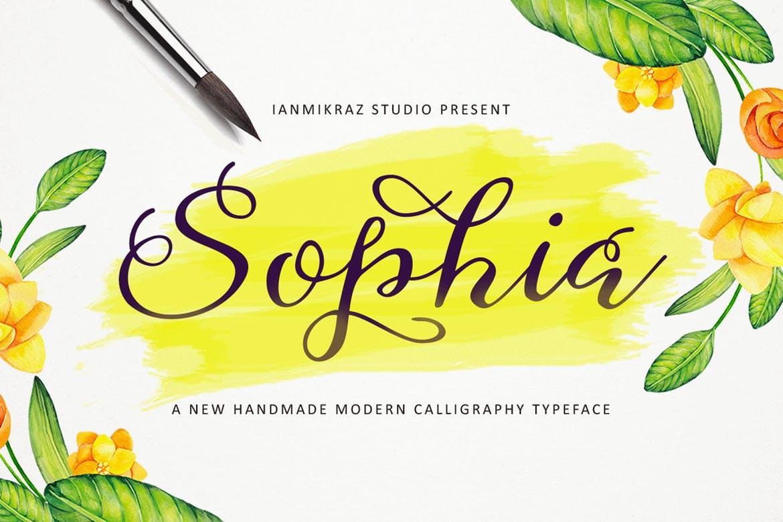 Fuentes manuscritas elegantes: Sophia Script