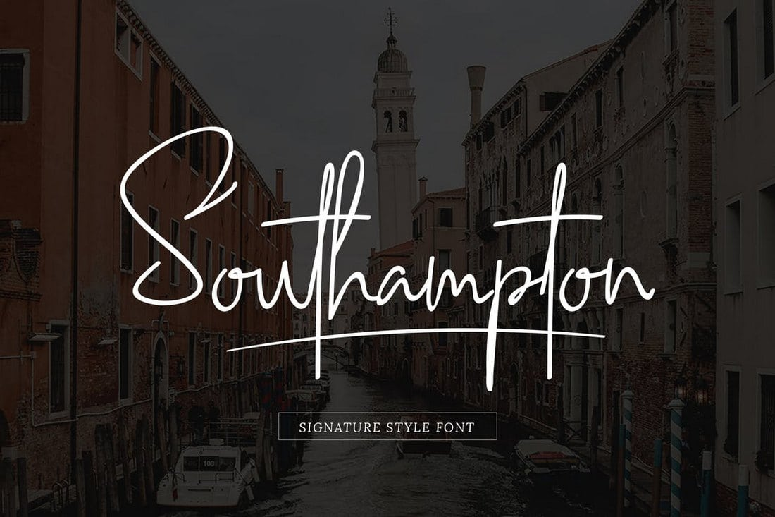 Southampton-Signature-Style 30+ Best Fonts for Business Cards design tips