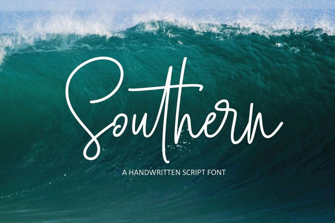 Southern Script - Handwritten Logo Font