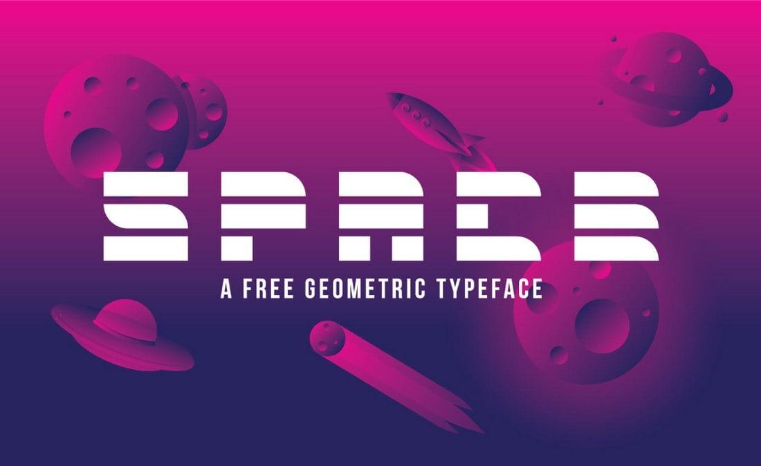 Space - Free Futuristic Monogram Font