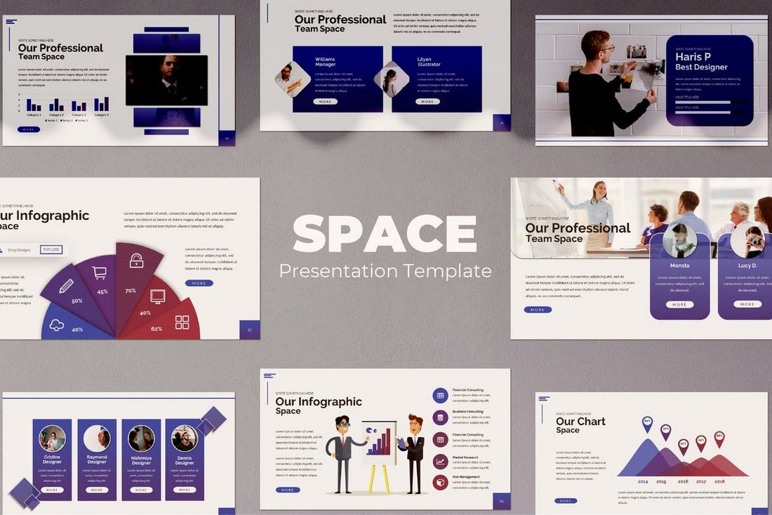 Space-Powerpoint 20+ Modern Professional PowerPoint Templates design tips