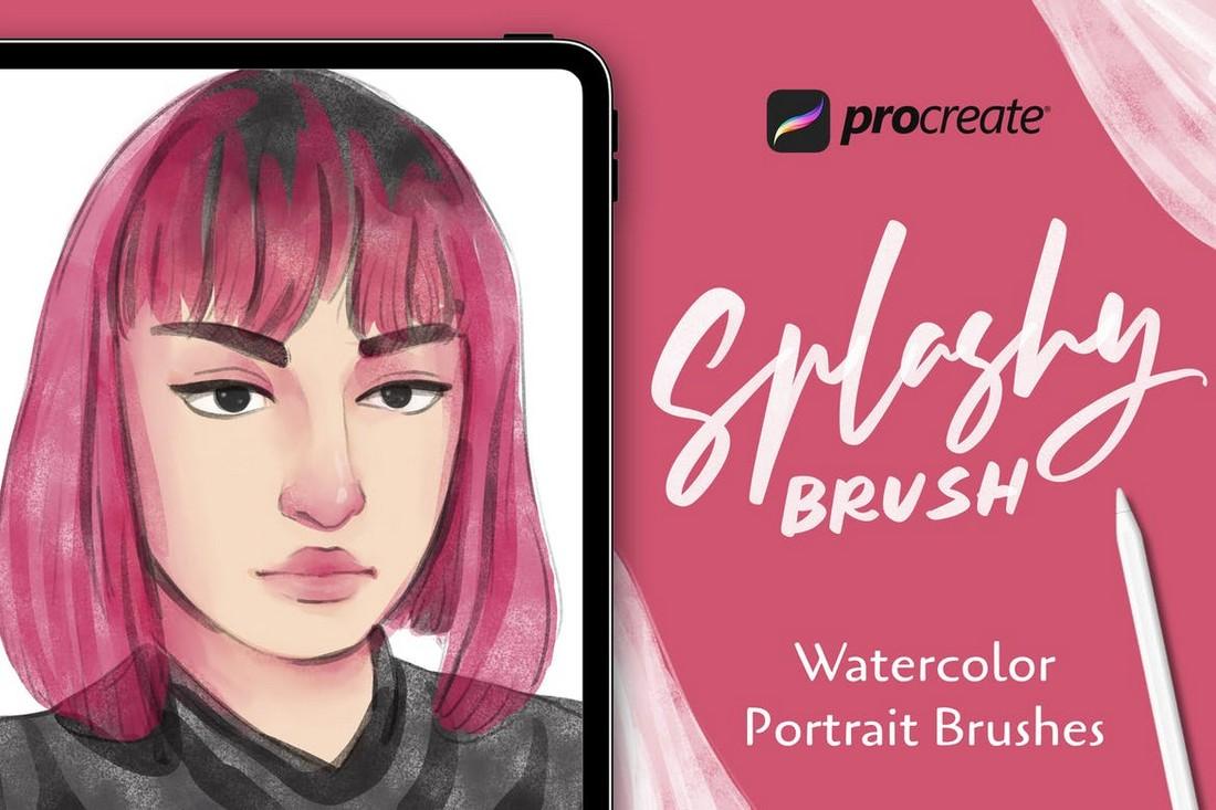 Spalshy Brush - Procreate Watercolor Brushes
