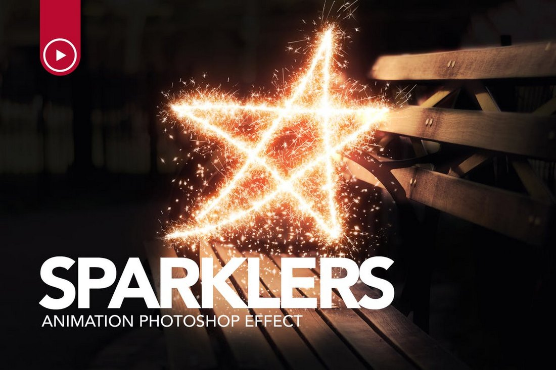 Sparklers-Animation-Photoshop-Action 15+ Christmas Photoshop Brushes, Actions & Text Effects design tips