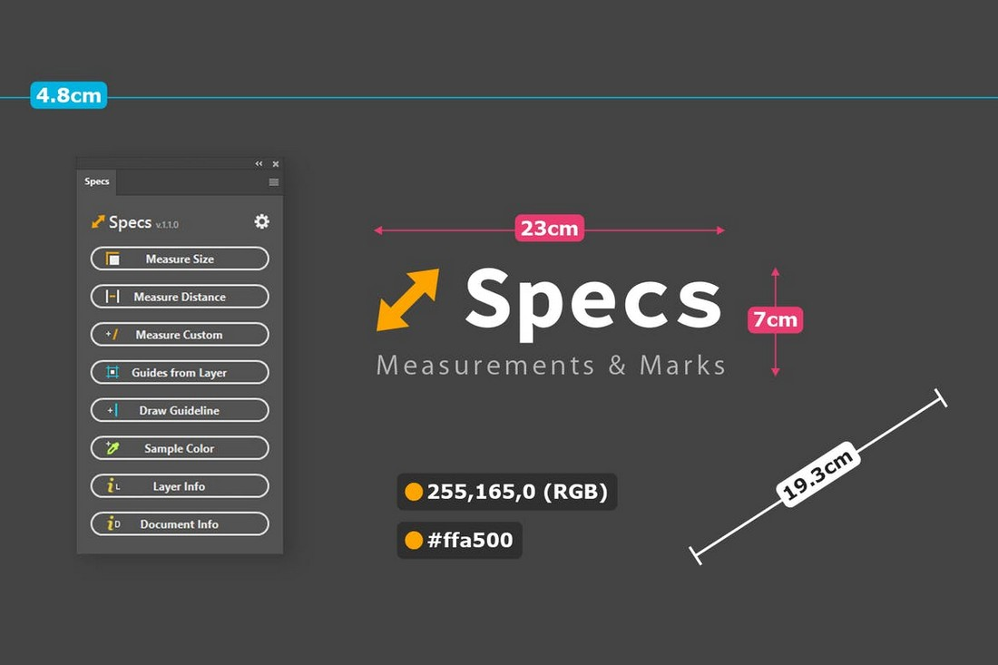Specs - Custom Measures & Marks PS Plugin