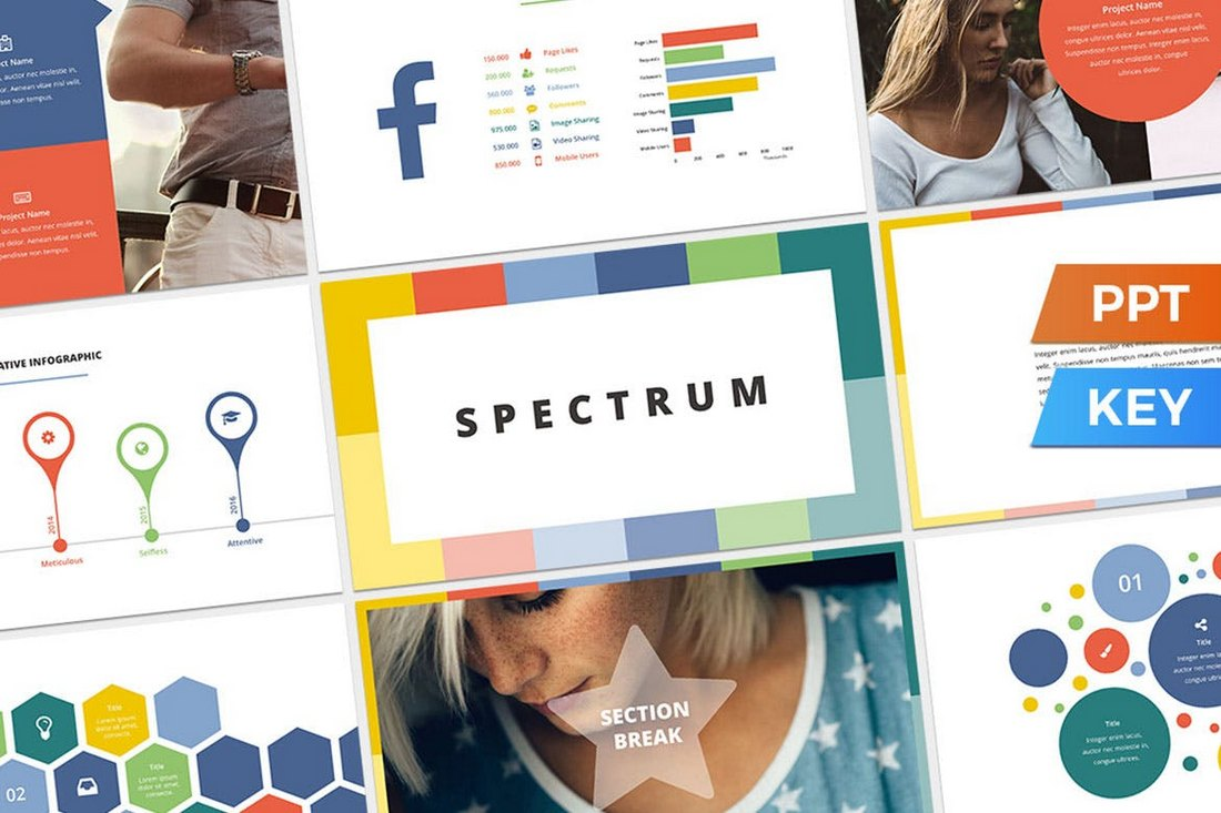 Spectrum-Colorful-Presentation-Template 20+ Best Cool PowerPoint Templates design tips