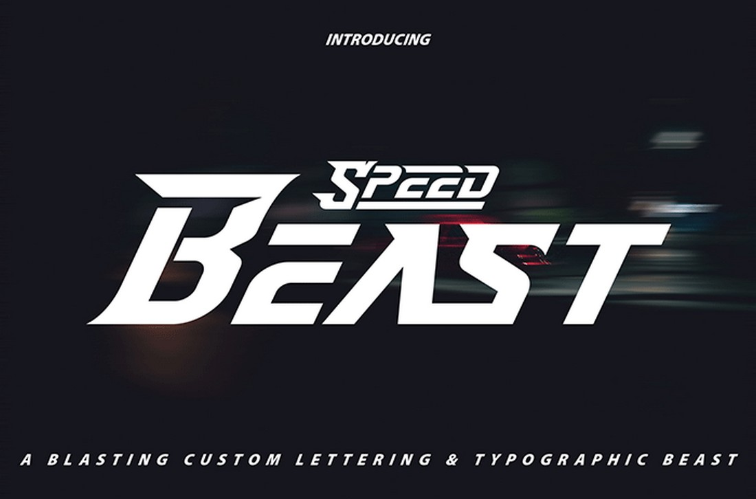 Speed Beast - Free YouTube Font