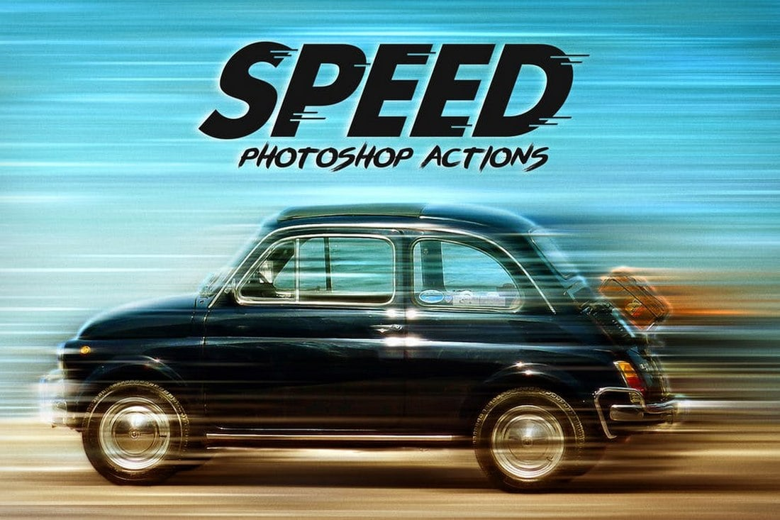 Speed-Photoshop-Actions-1 20+ Best Photoshop Filters + Plugins 2020 (+ How to Use Them) design tips