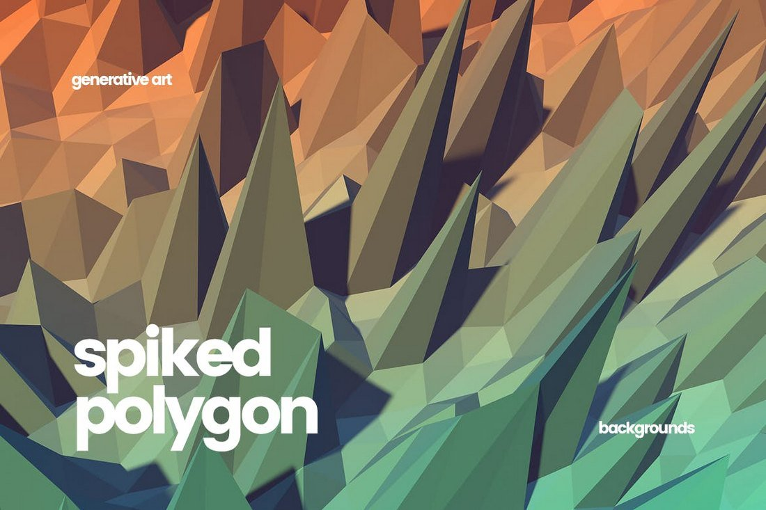 Spiked Polygon Backgrounds