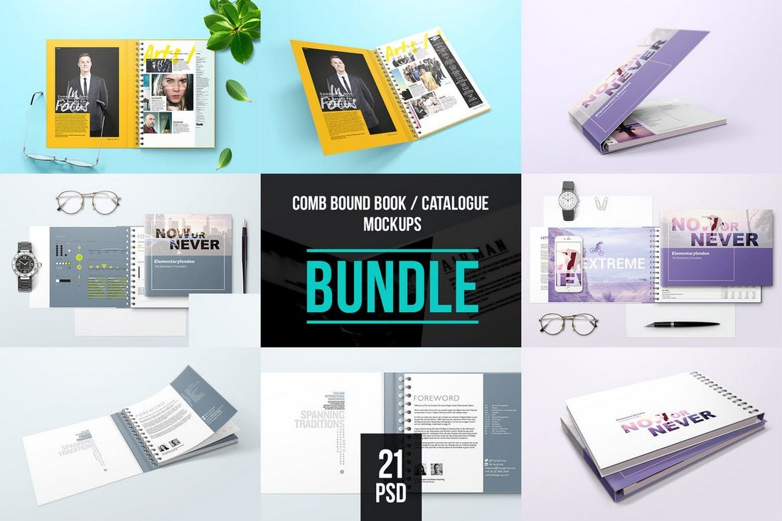 Spiral-Bound-Book-Cover-Mockup-Bundle 20+ Best Book Cover Mockup Templates design tips