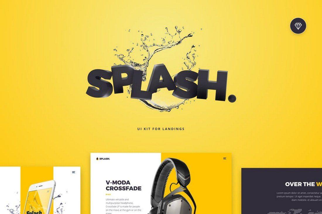 Splash-UI-Kit-for-Sketch 40+ Best Sketch Templates of 2020 design tips  Inspiration|sketch|templates