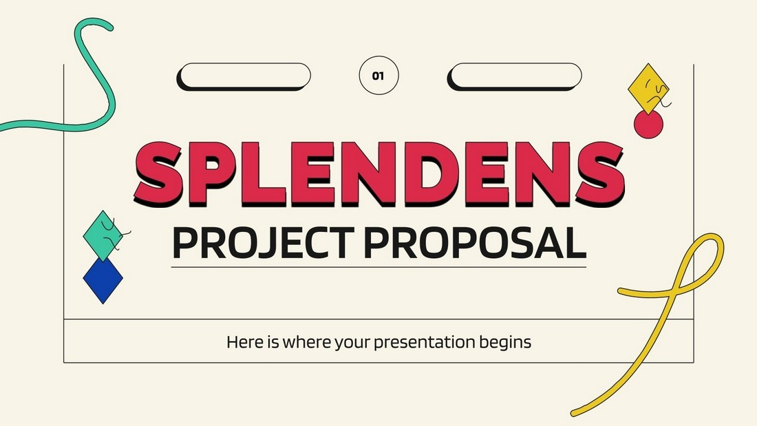 Splendens - Free PowerPoint Project Proposal Template