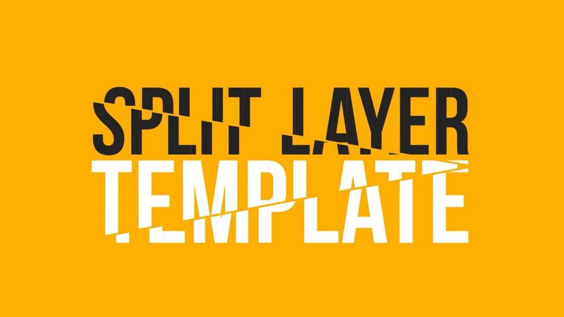 Split Layers - Free After Effects Template