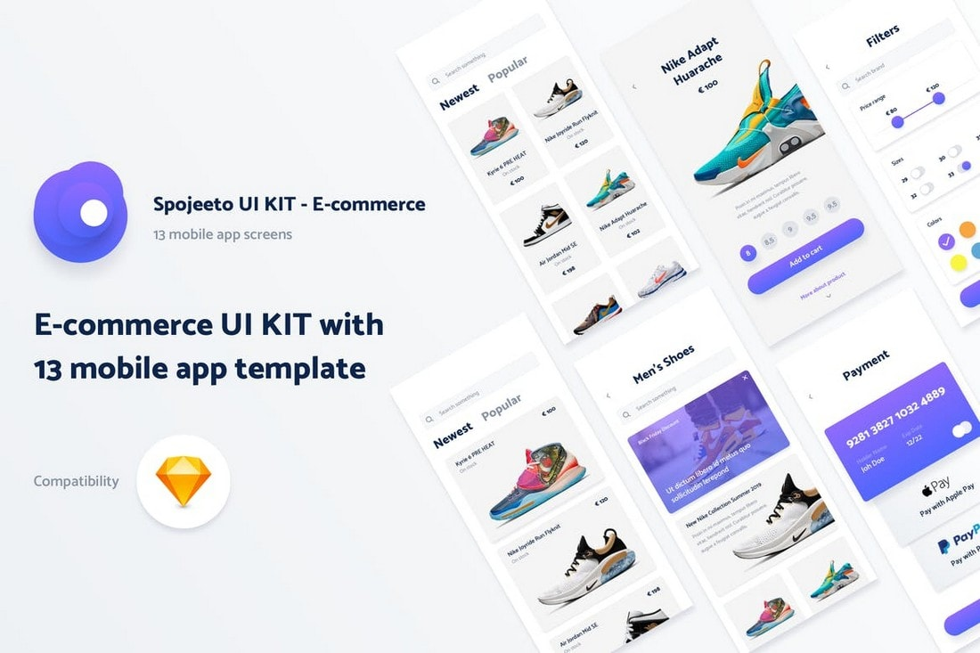 Spojeeto-E-commerce-Mobile-App-UI-Templates 25+ Best Mobile App UI Design Examples + Templates design tips  Inspiration