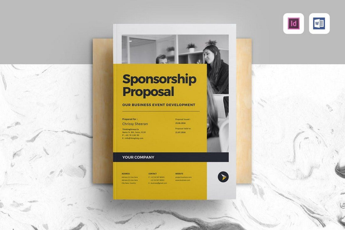 Sponsorship-Proposal-Template 40+ Best Microsoft Word Brochure Templates 2020 design tips  Inspiration|brochure|templates