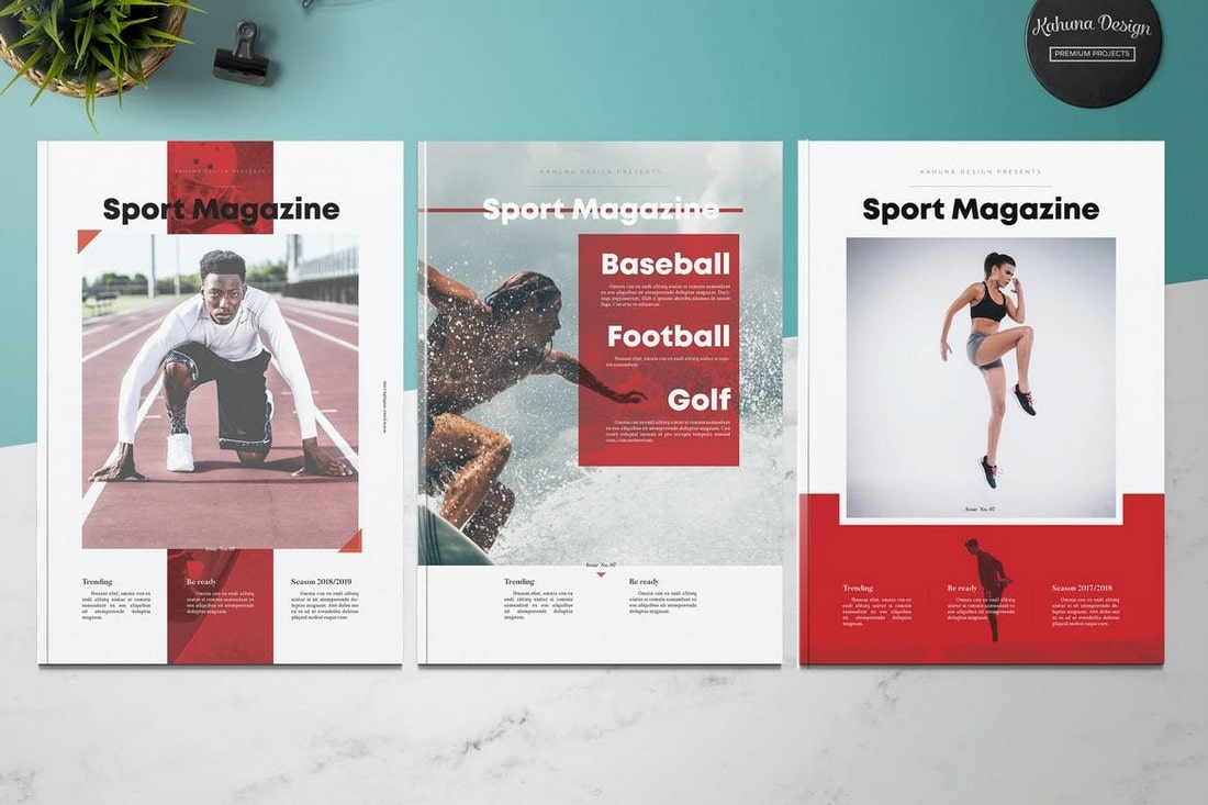 Sport Magazine InDesign Template