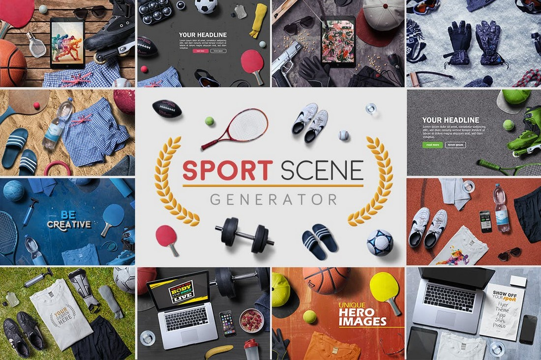 Sport Scene Generator & Mockups