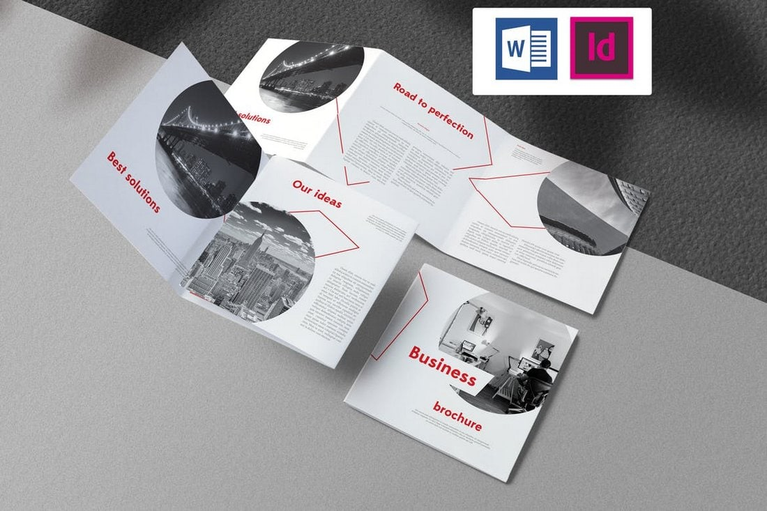 Square Business Brochure Word Template