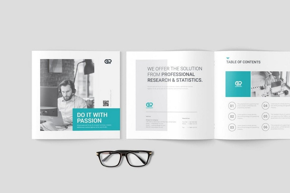Square Company Brochure Template
