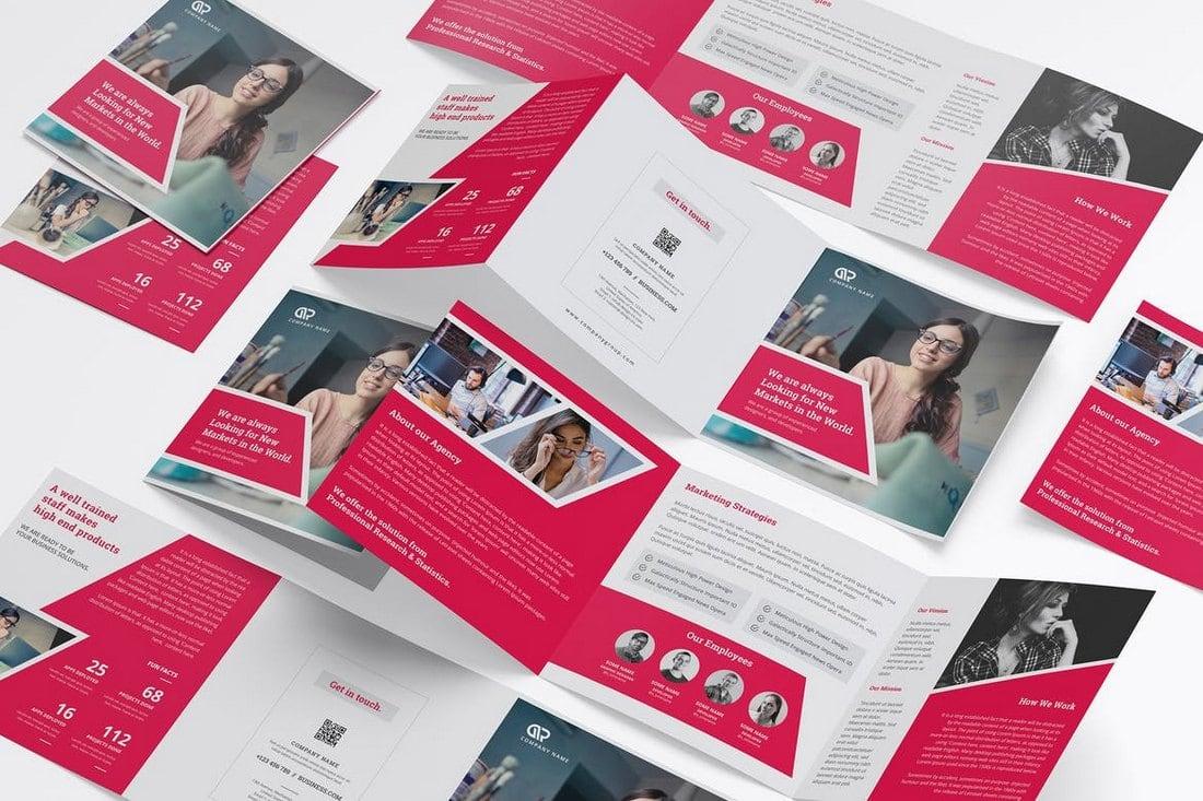 Square Creative Trifold Brochure