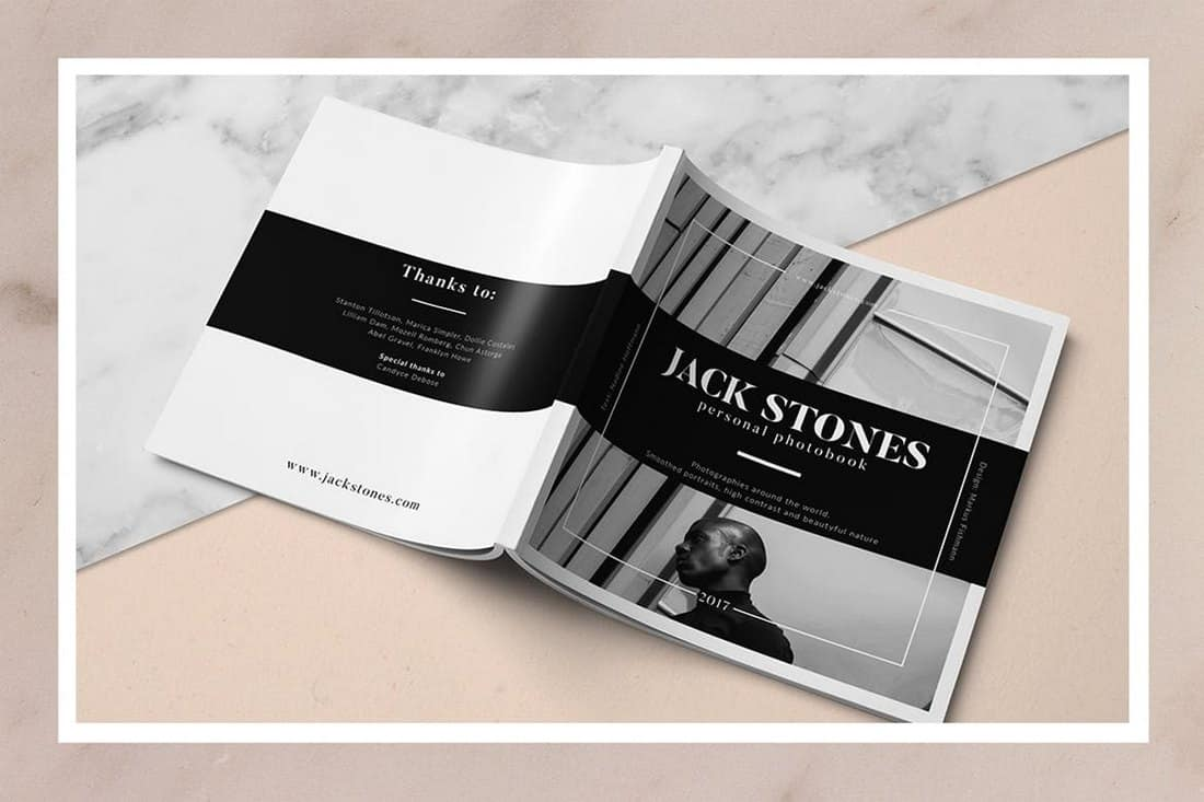 Square Portfolio Book Template