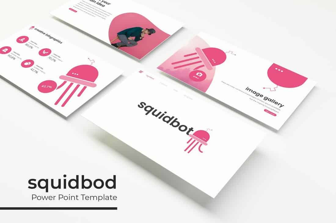 Squidbod - Modèle PowerPoint de technologie  30+ Meilleurs modèles PowerPoint pour Science et technologie Squidbod Technology PowerPoint Template