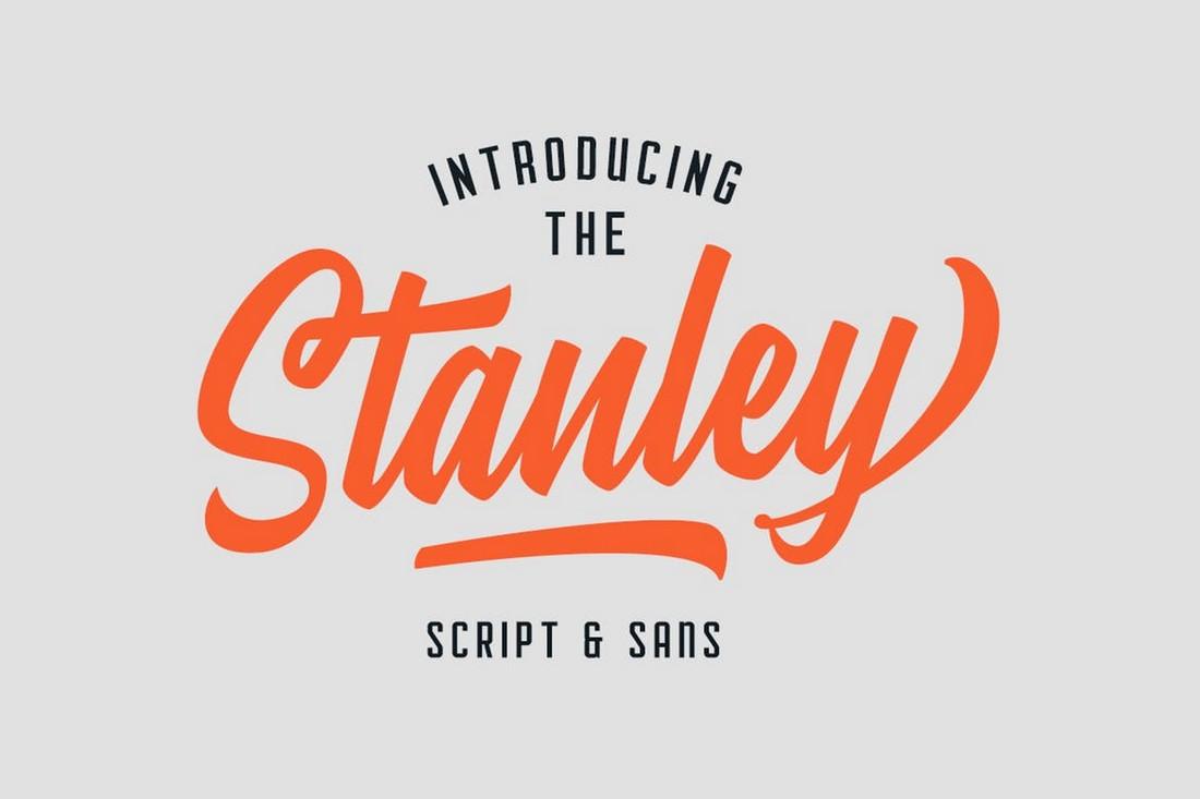 Stanley - Creative Script & Sans Font Duo