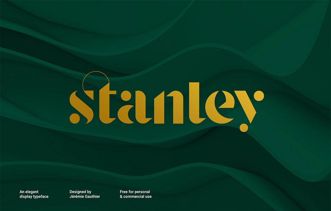 Stanley - Free Luxury Monogram Typeface