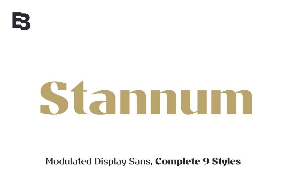 Stannum - Modern Poster Font