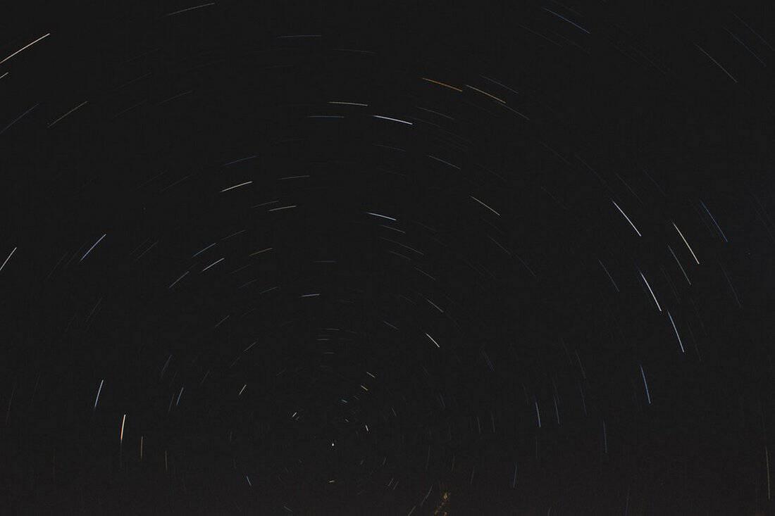 Star Light Trail B&W Background