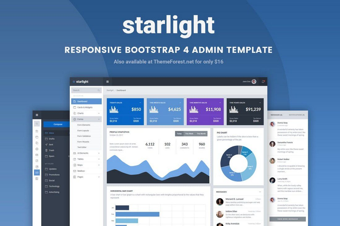 Starlight-Responsive-Bootstrap-4-Admin-Template 40+ Best Bootstrap Admin Templates of 2019 design tips