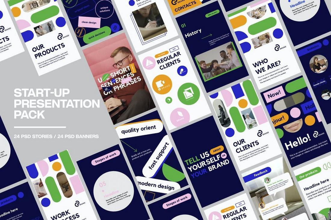 Start-Up Presentation Instagram Story & Post Templates