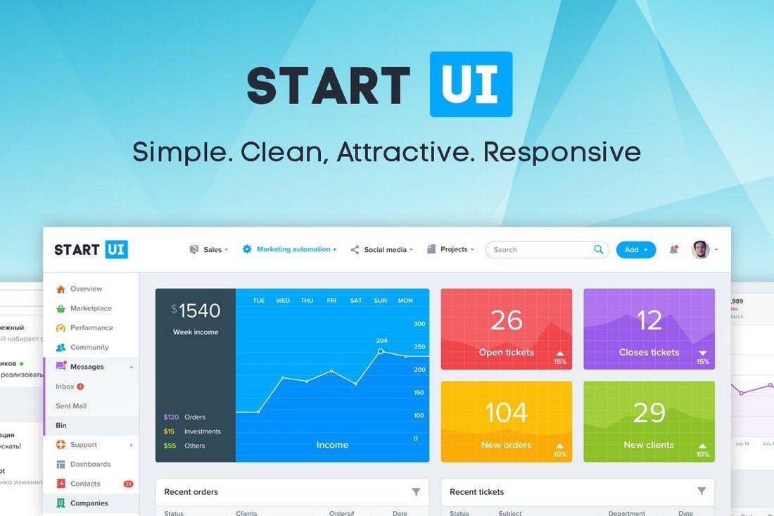 StartUI-Bootstrap-4-Admin-Dashboard-Template 40+ Best Bootstrap Admin Templates of 2019 design tips