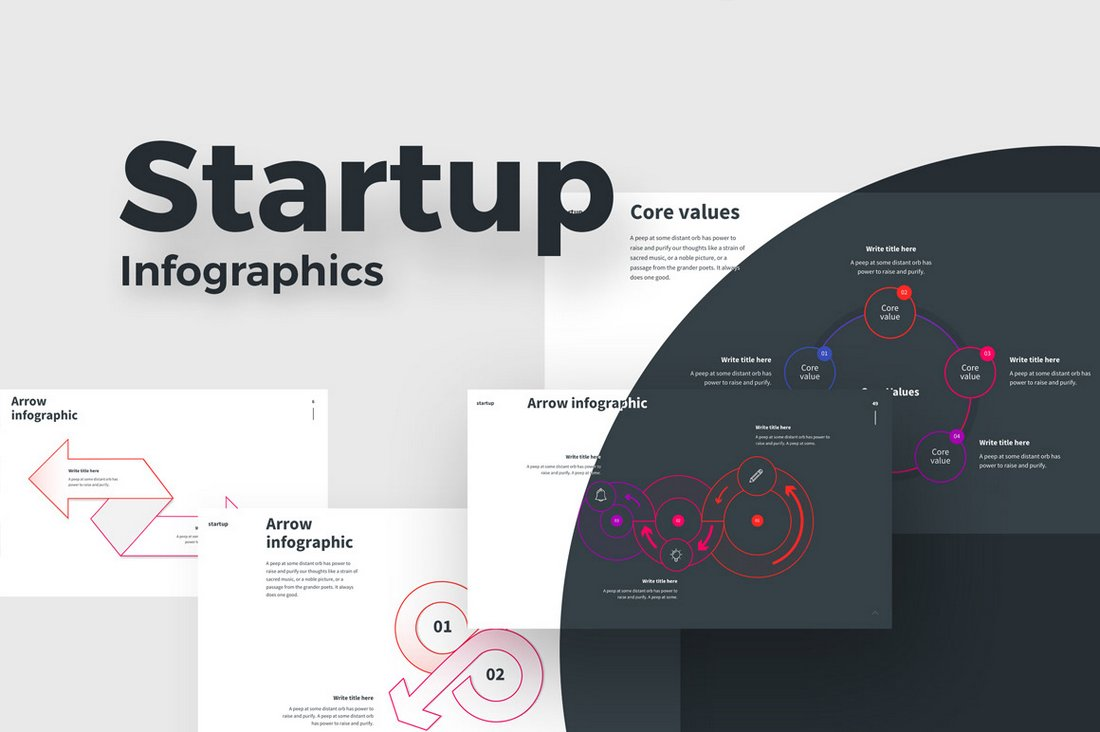 Startup Infographics - Free Keynote Template