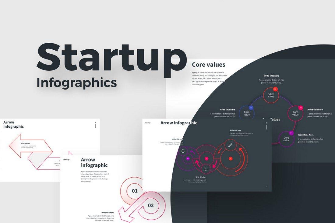 Startup-Infographics-Free-Keynote-Template 30+ Keynote Business Slide Templates design tips  Inspiration|business|keynote|presentation
