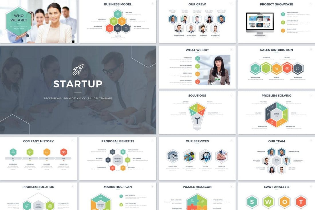 Startup-Pitch-Deck-Google-Slides-Template 35+ Best Google Slides Themes & Templates 2019 design tips