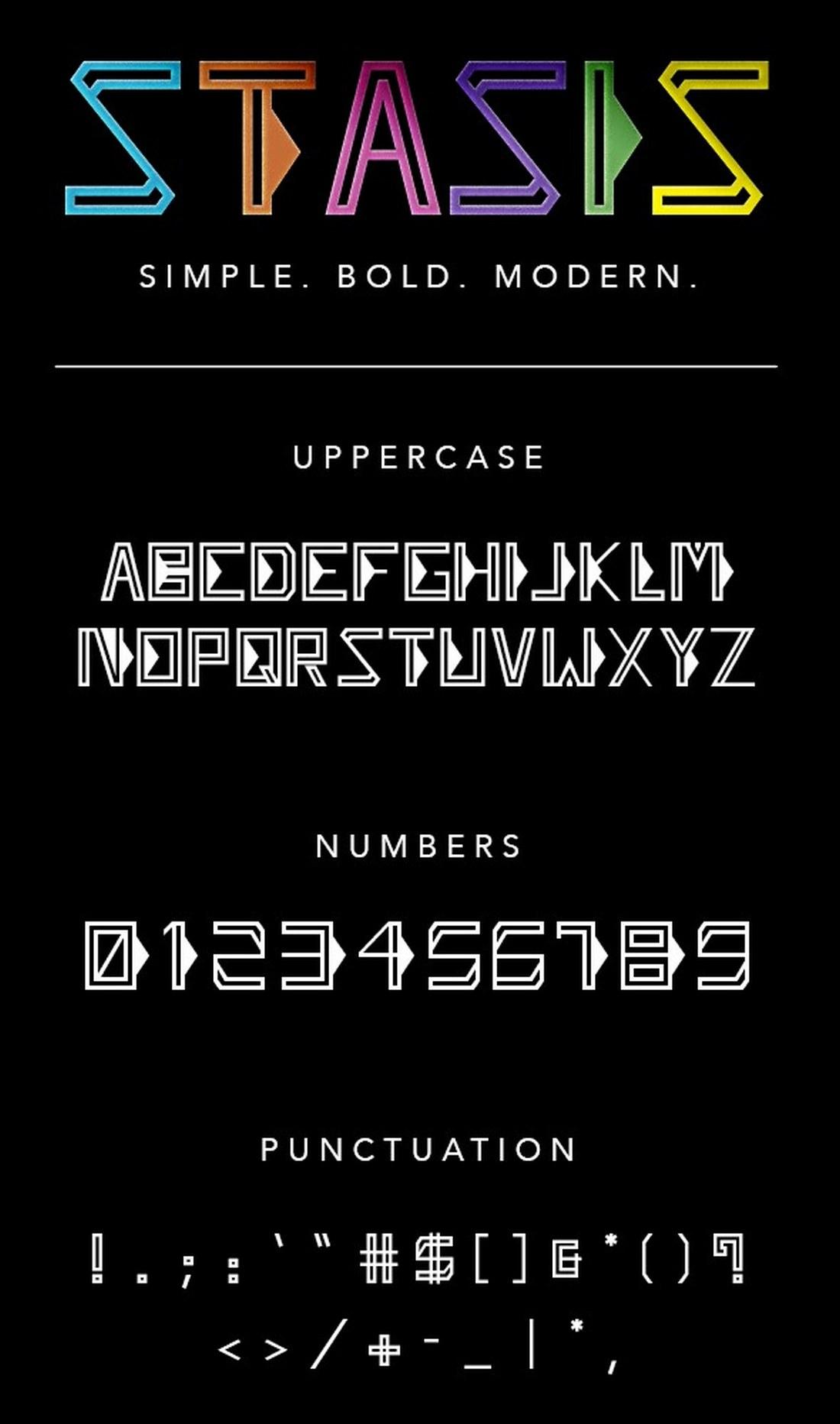 Stasis - Futuristic Font