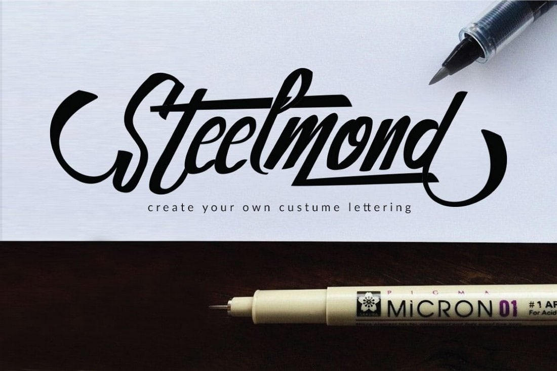 Steelmond - Unique Custom Lettering Font