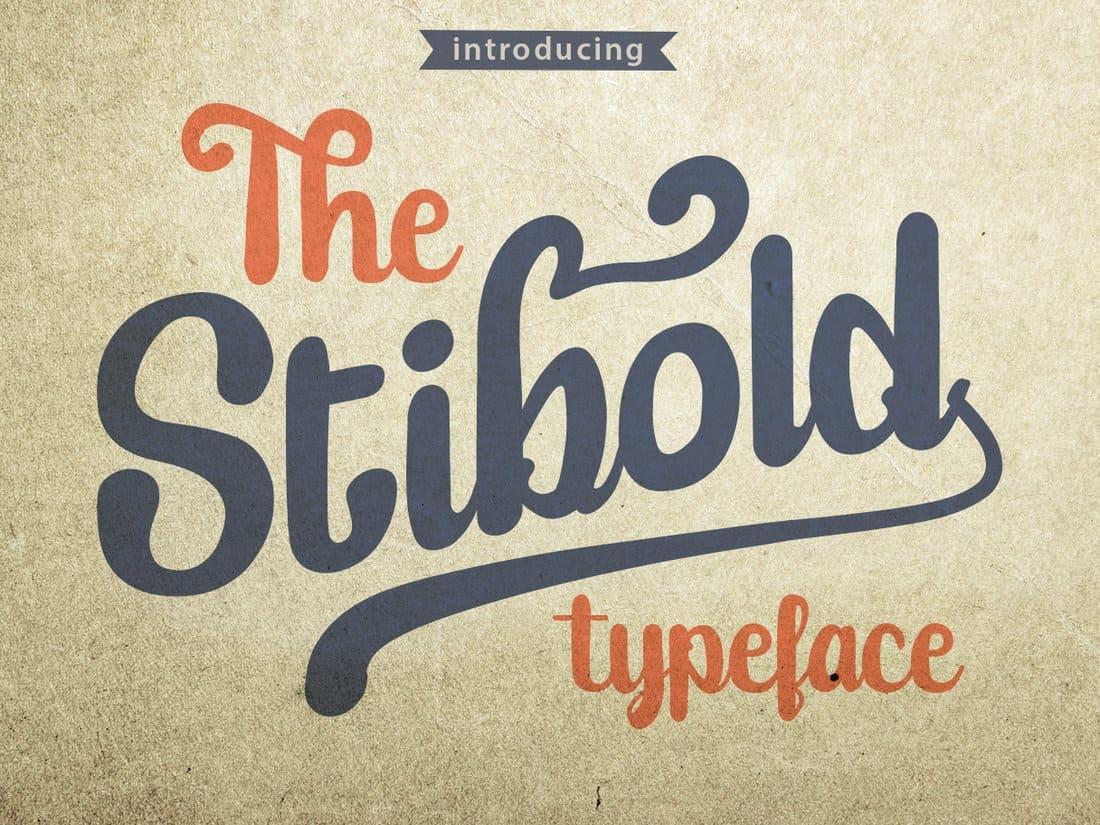 Stibold - Unique Free Font