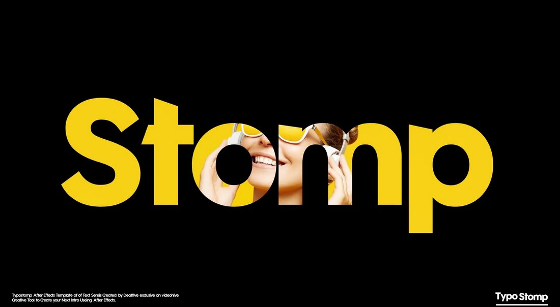 Stomp Typography Intro for After Effects