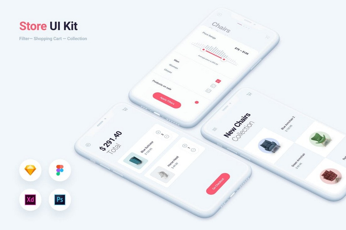 Store & Shopping App UI Kit Templates
