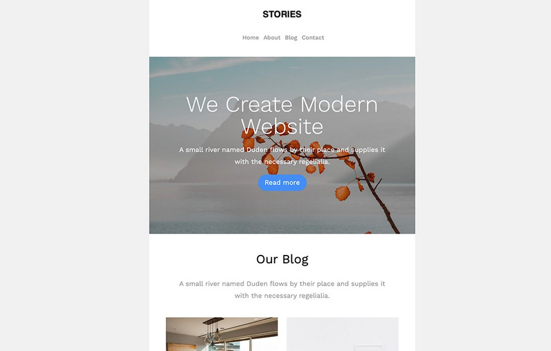 Stories-Free-MailChimp-Email-Template 20+ Best MailChimp Email Newsletter Templates (Free + Premium) 2021 design tips