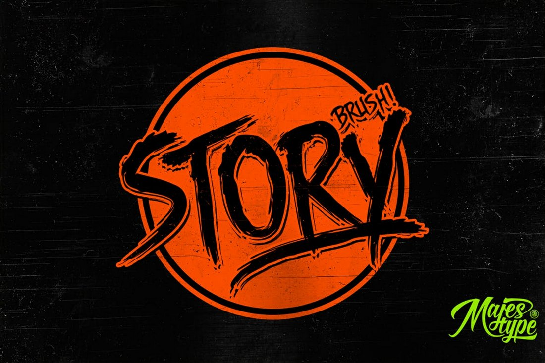 Story Brush - Halloween Font