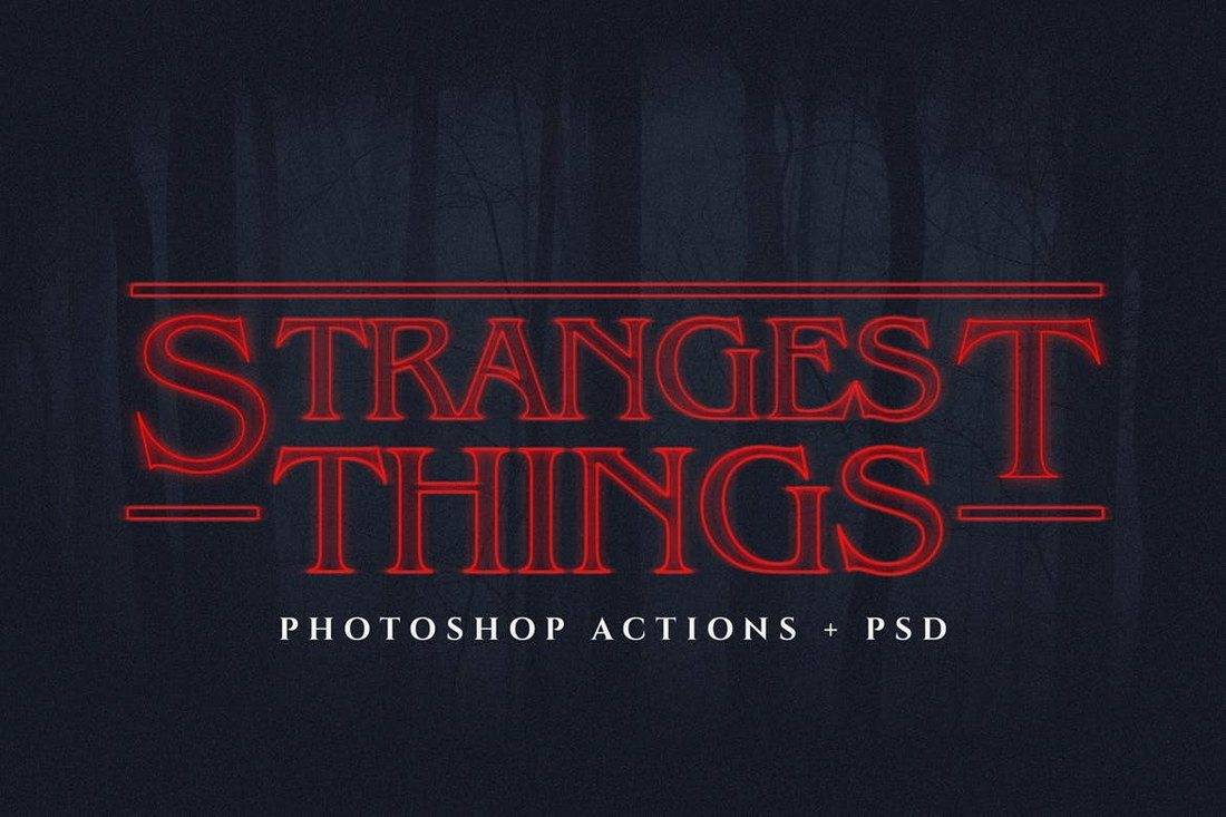 Strangest-Things-Ps-Text-Actions 30+ Best Retro Text Effects & Styles design tips