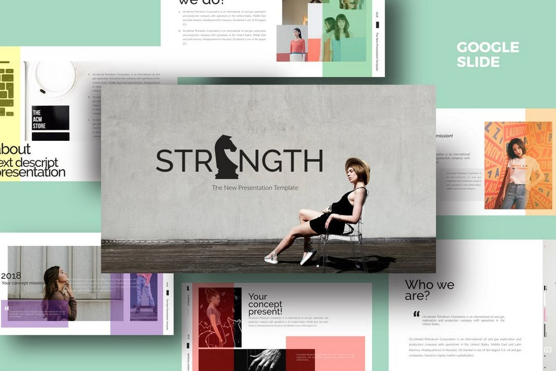 Strenght White - Google Slides Template