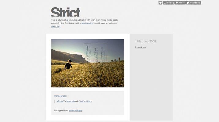 Strict-Free-Tumblr-Theme