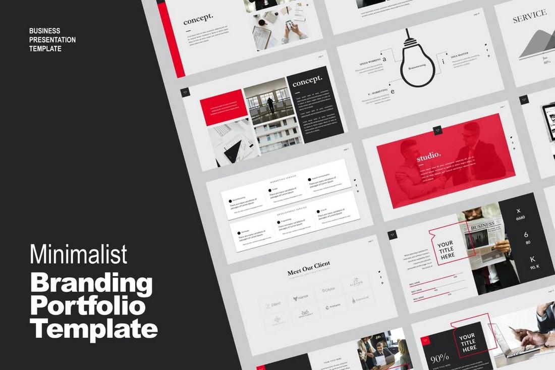 Studio Business PowerPoint Portfolio Template