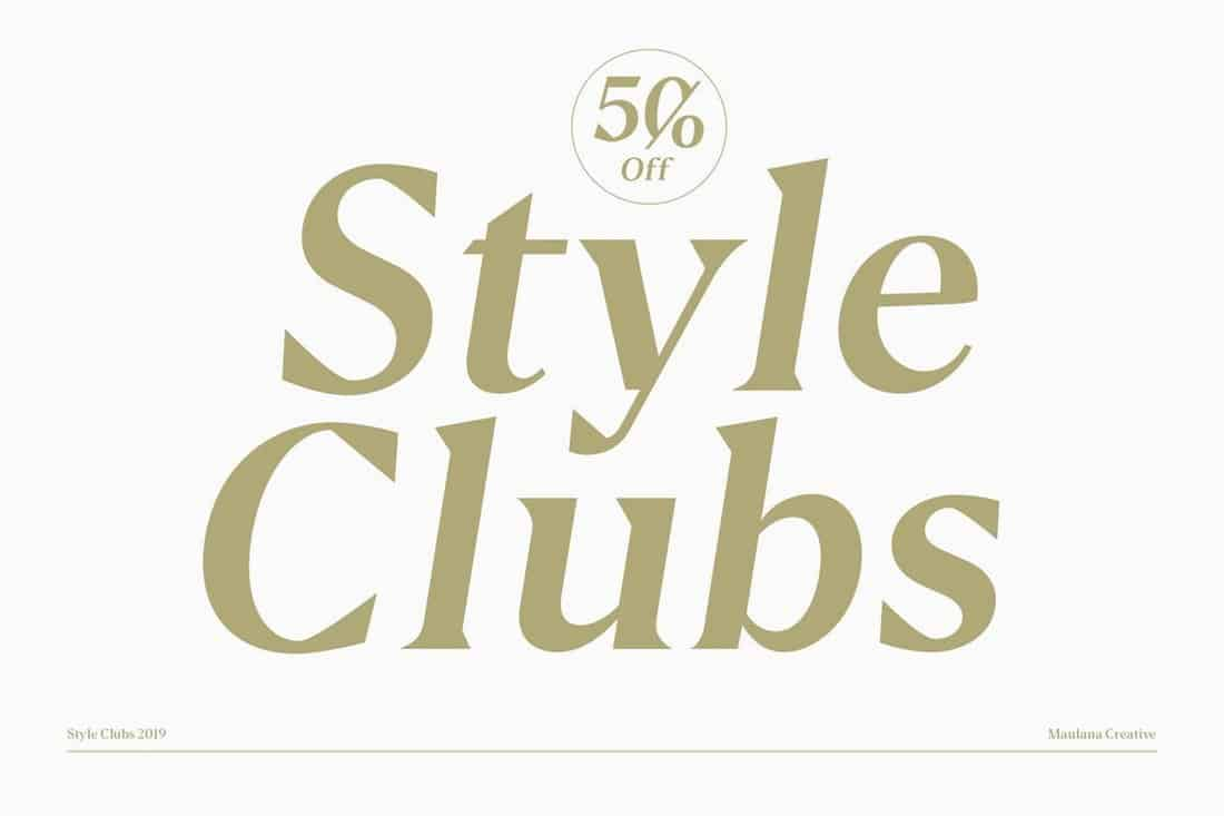 Style Clubs - Creative Serif Font